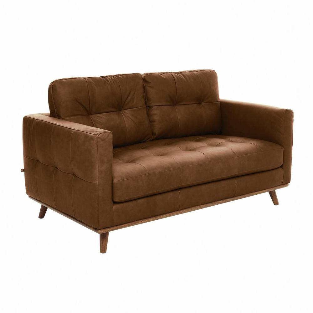 Albi two seater sofa grano leather natural tan