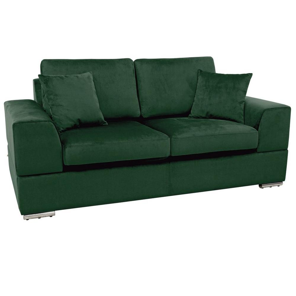 Varenna two seater sofabed alba velvet forest green