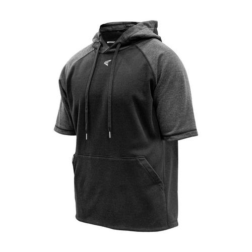 SHORT SLEEVE FLEECE PERFORMANCE HOODIE,,medium