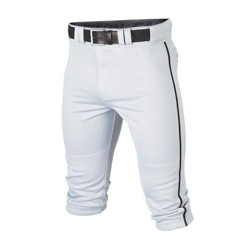 RIVAL+ KNICKER PANT ADULT PIPED WHITE/BLACK S,White/Black,medium