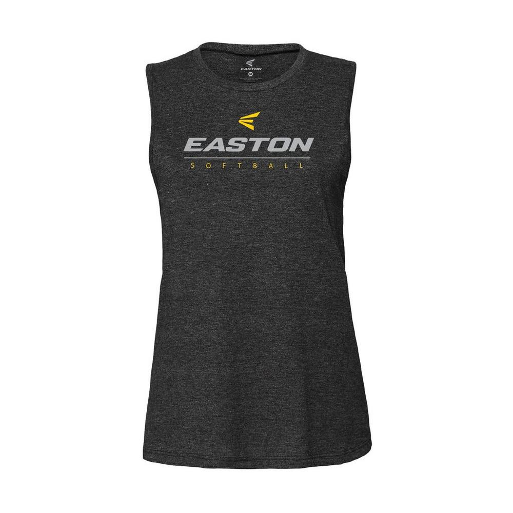 EASTON WOMENS SOFTBALL MUSCLE TANK WOMENS CHARCOAL  S