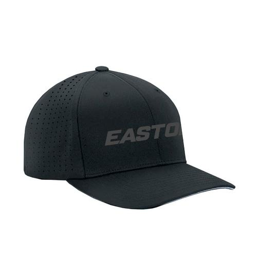 EASTON TECH FLEXFIT BLACK/BLACK CAP  M/L,BLACK/BLACK,medium