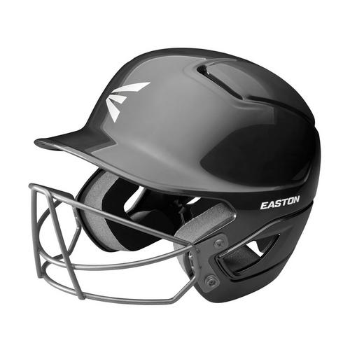 ALPHA BATTING HELMET W/ BASEBALL SOFTBALL MASK L/XL BLACK,Black,medium