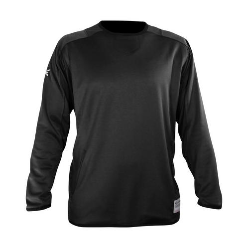 ALPHA FLEECE PULLOVER L/S BK L,BLACK,medium
