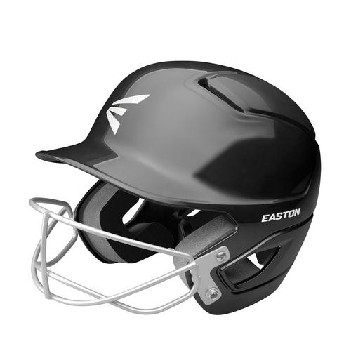 ALPHA FASTPITCH BATTING HELMET W/ SOFTBALL MASK L/XL BLACK,Black,medium