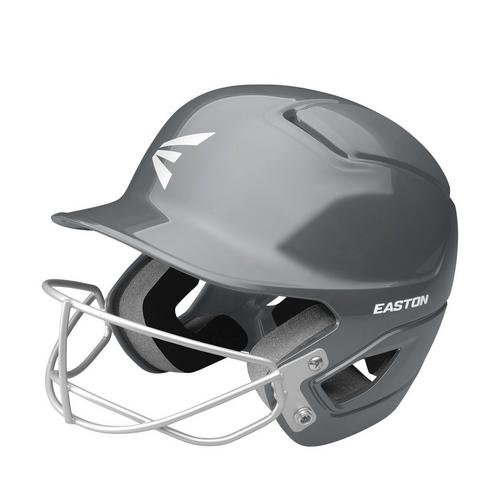ALPHA FASTPITCH BATTING HELMET W/ SOFTBALL MASK L/XL CHARCOAL,Charcoal,medium