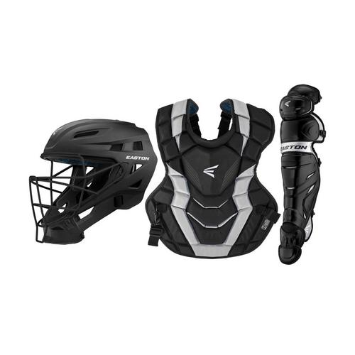 ELITE-X CUSTOM CATCHERS SET ADULT BK/SL,Black/Silver,medium