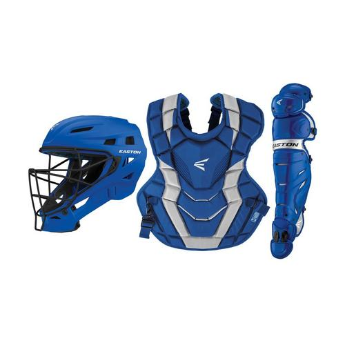 ELITE-X CUSTOM CATCHERS SET ADULT RY/SL,Royal/Silver,medium