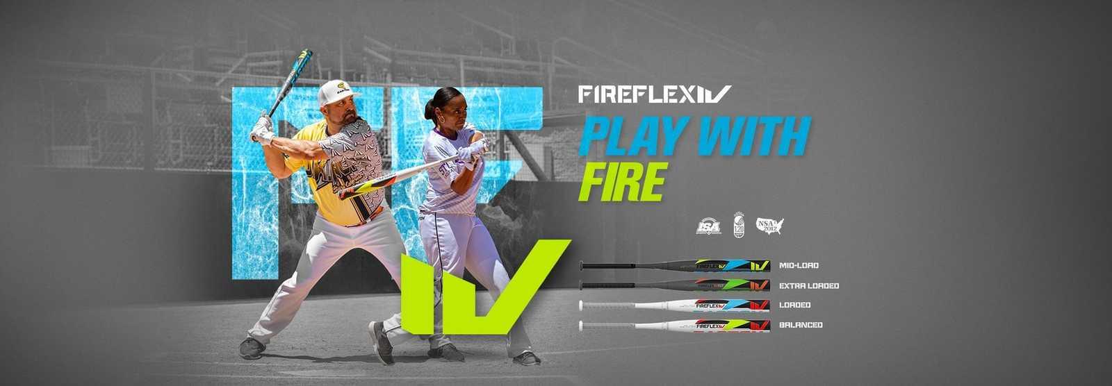 slowpitch-softball-fire-flex-iv-bats