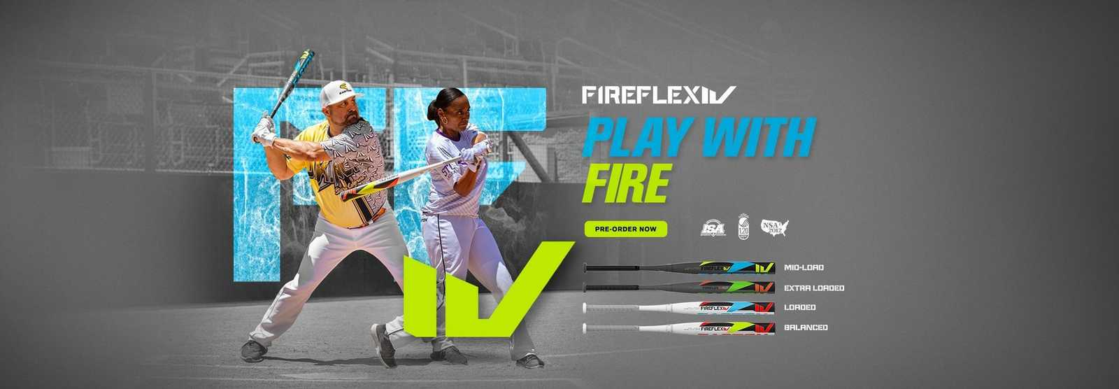 slowpitch-fire-flex-iv-bats