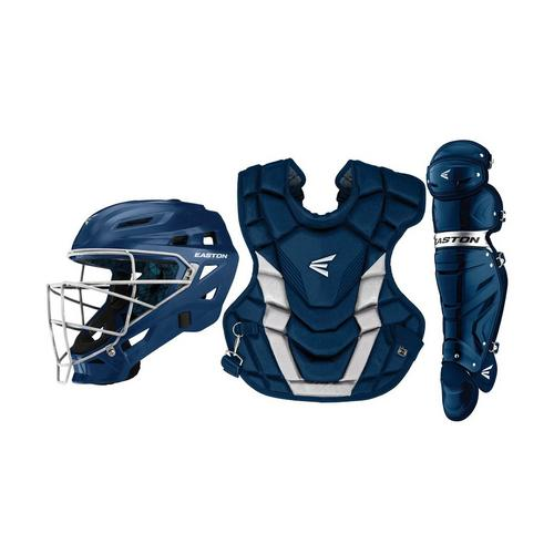 GAMETIME CATCHERS KIT ADULT NY/SL,Navy/Silver,medium