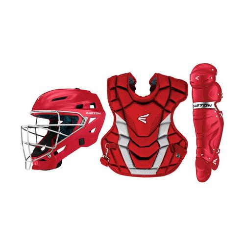 GAMETIME CATCHERS KIT ADULT RD/SL,Red/Silver,medium