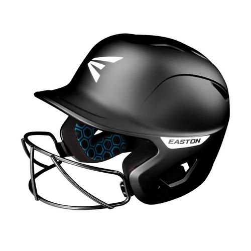 GHOST BATTING HELMET W/MASK L/XL MATT BLACK,Black,medium