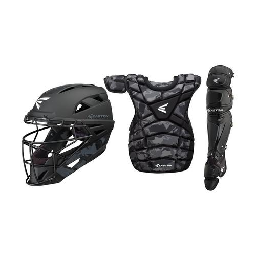 M10 CUSTOM CATCHERS SET ADULT BK BASECM ,Black Basecamo,medium