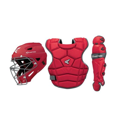 Prowess Qwikfit Fastpitch Catcher's Box Set Yth RD,Red,medium