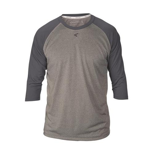3/4 RAGLAN CREW NECK AHCH S,Athletic Heather/Charcoal,medium