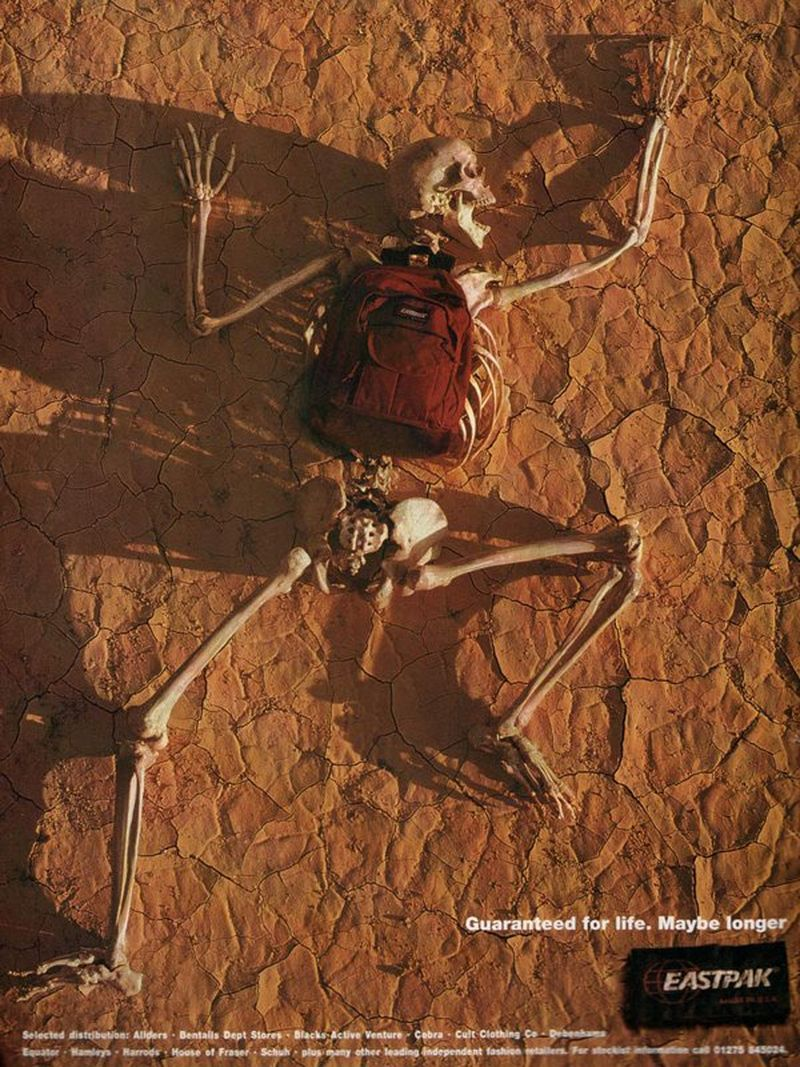 Eastpak Skeleton ad