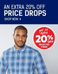 Price Drops - Save An Extra 20% On Selected Mens Fashion - Limited Time Offer - Shop Now