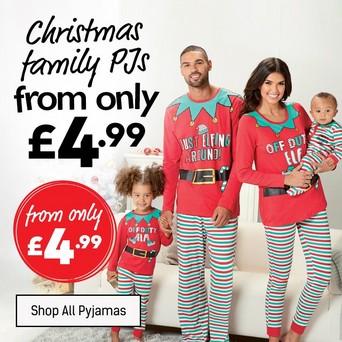Matching Christmas Pjs.Festive Nightwear Xmas Pyjamas For The Family Studio