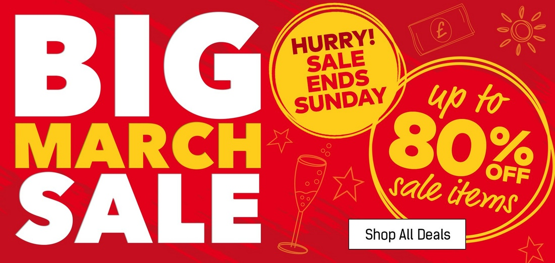 Big March Sale - Shop Now