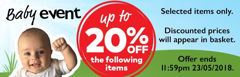 Baby Event - Up To 20% OFF The Following Items - Discounted Prices Will Appear In Basket - Offer Ends 11:59pm 23/05/2018