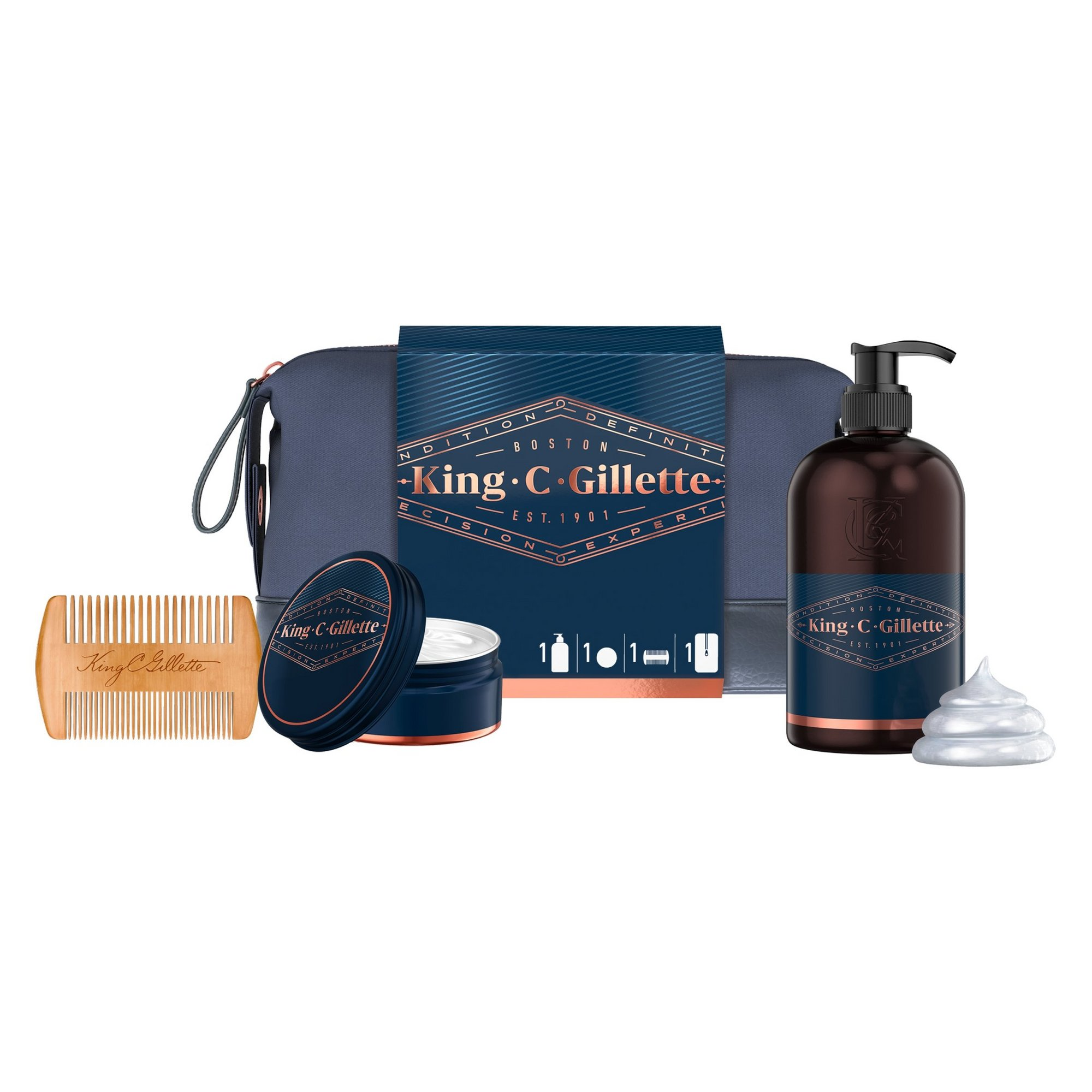 Image of Gillette King C Beard Essentials Gift Set