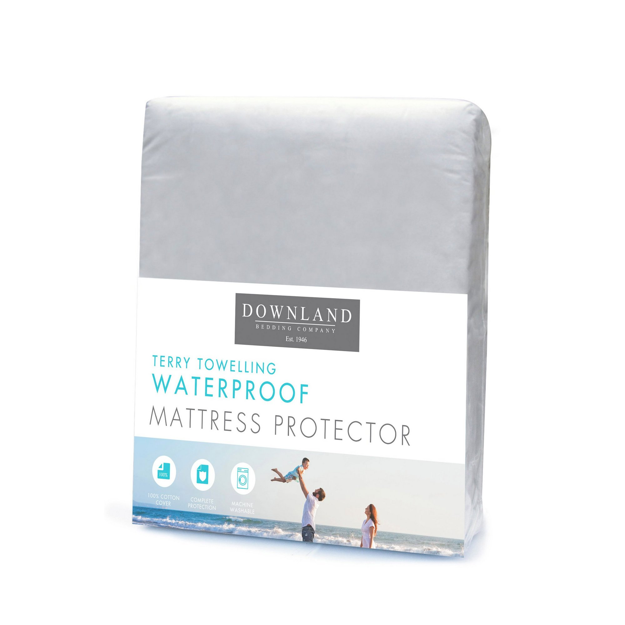 Image of Downland Breathable Waterproof Terry Towelling Mattress Protector