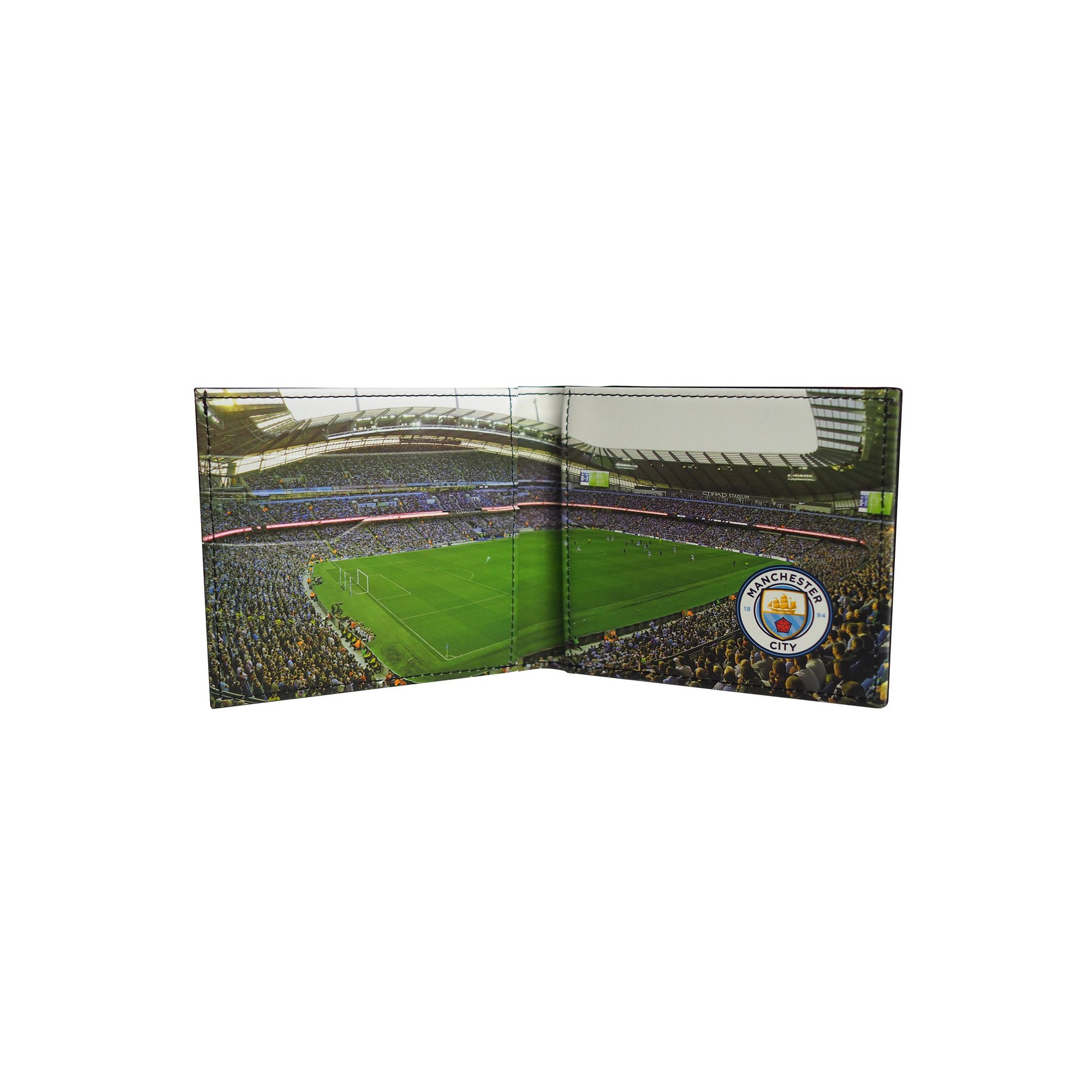 Image of Football Club Stadium Leather Wallet - Manchester City FC