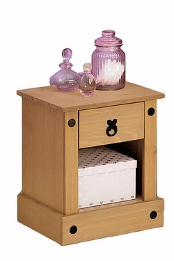 Mexican Solid Pine Bedside Table