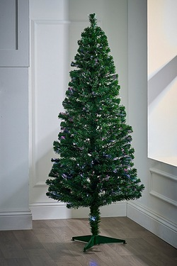 Lit 6ft Colour Changing Fibre Optic Christmas Tree
