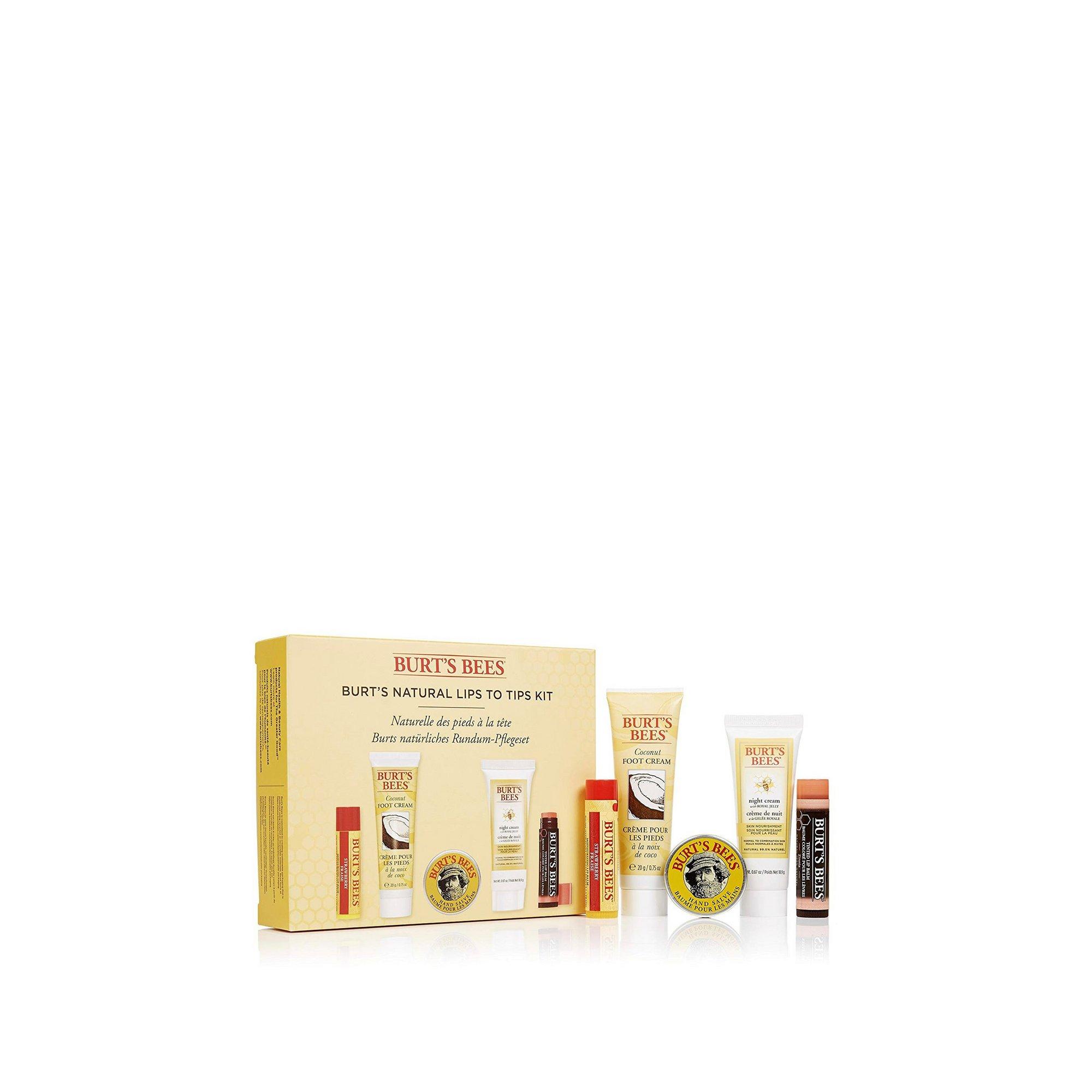 Image of Burts Bees Natural Lips to Tips Pamper Kit
