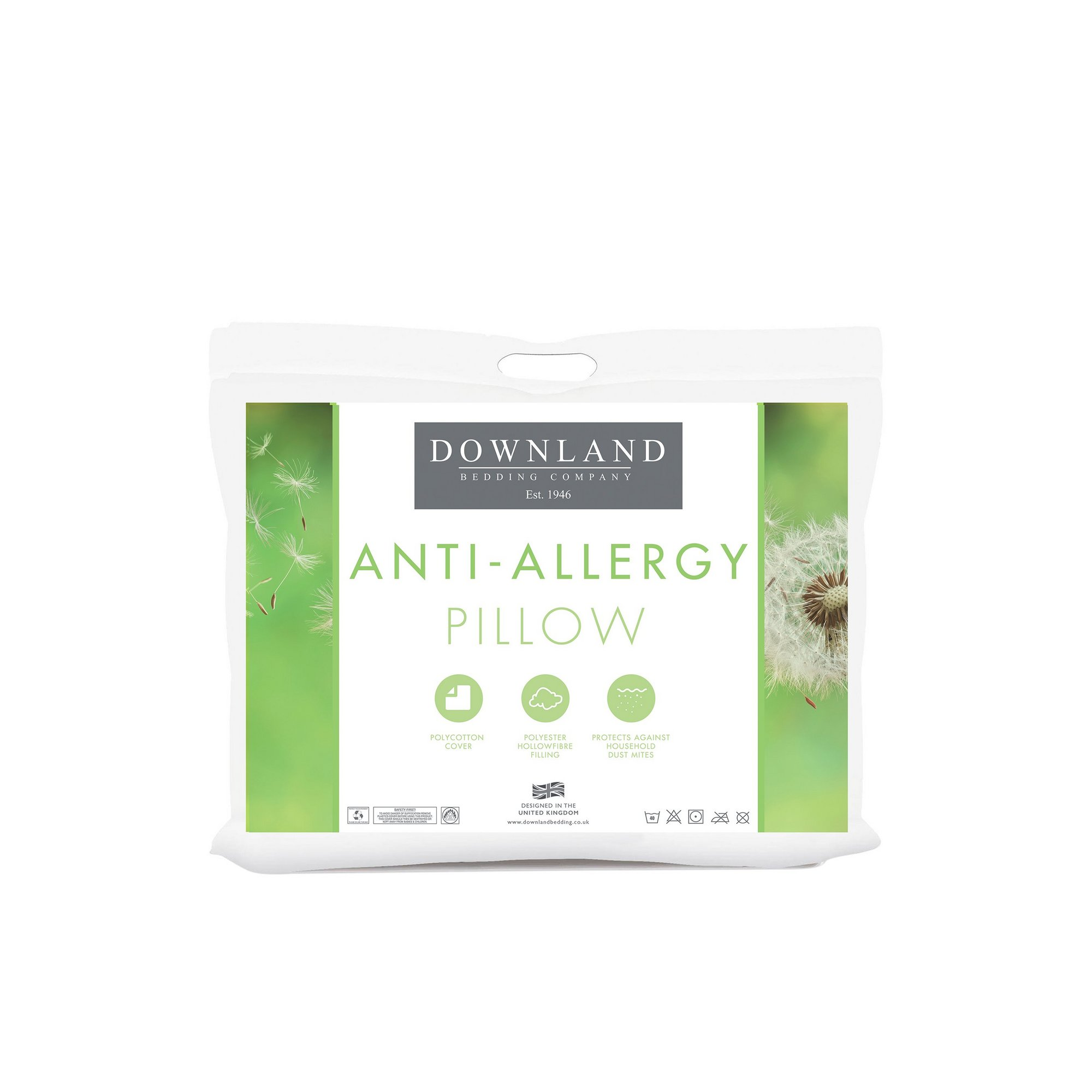 Image of Downland Anti-Allergy Hollowfibre Pillows
