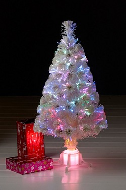White Classic Deluxe Fibre Optic Tree - 5ft