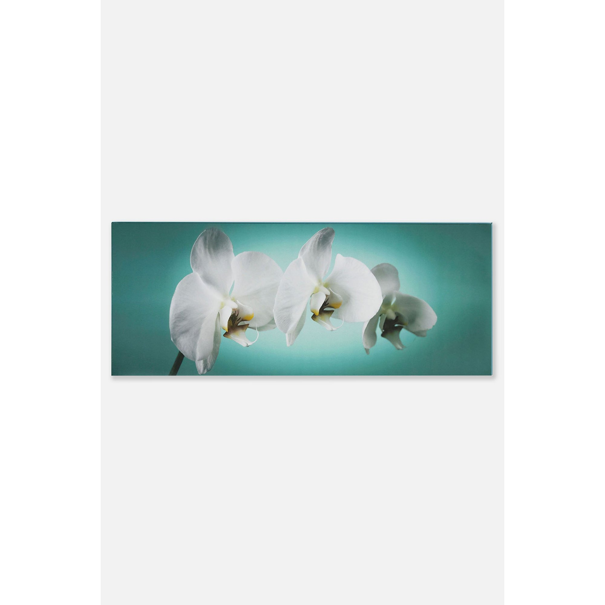Image of Teal Orchid Canvas Art