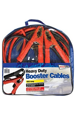 Booster Cables - 2.5m HD 400 Amp for up to 4000cc