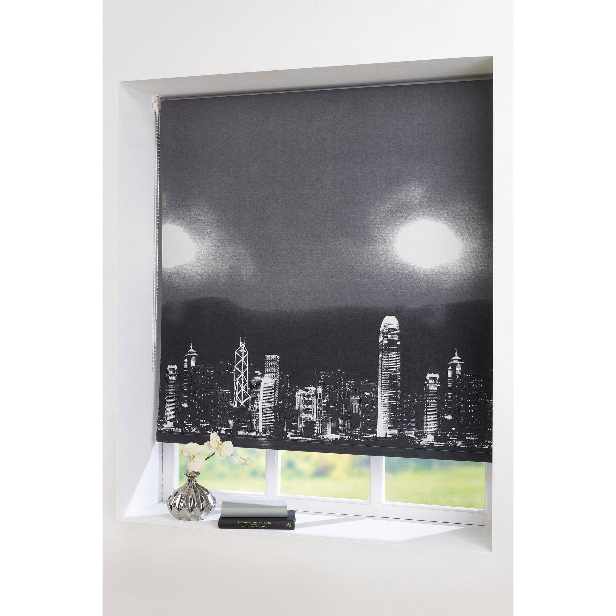 Image of Skyline Blackout Grey Roller Blind 160cm Drop