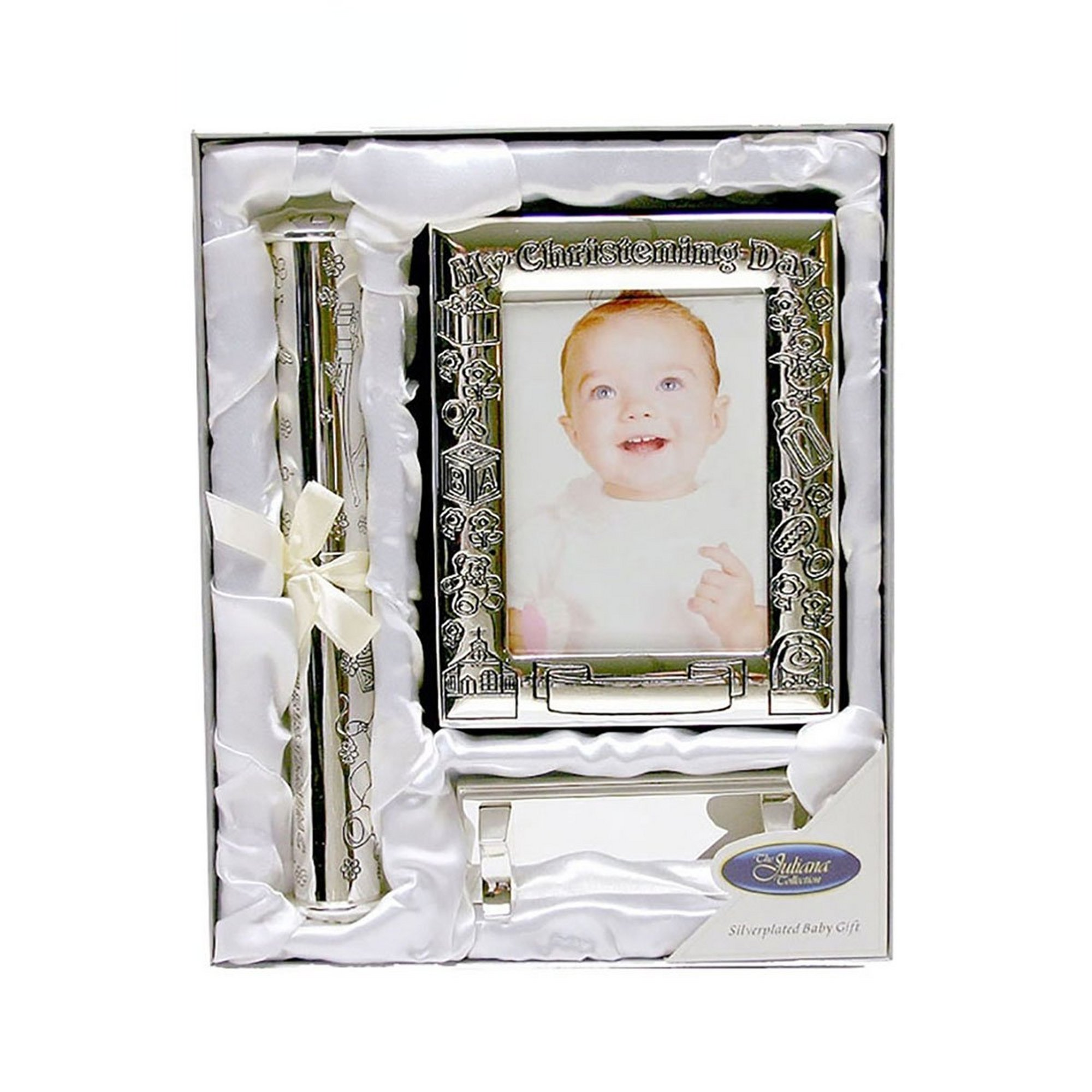 Image of Christening Day - Photo Album and Certificate Stand