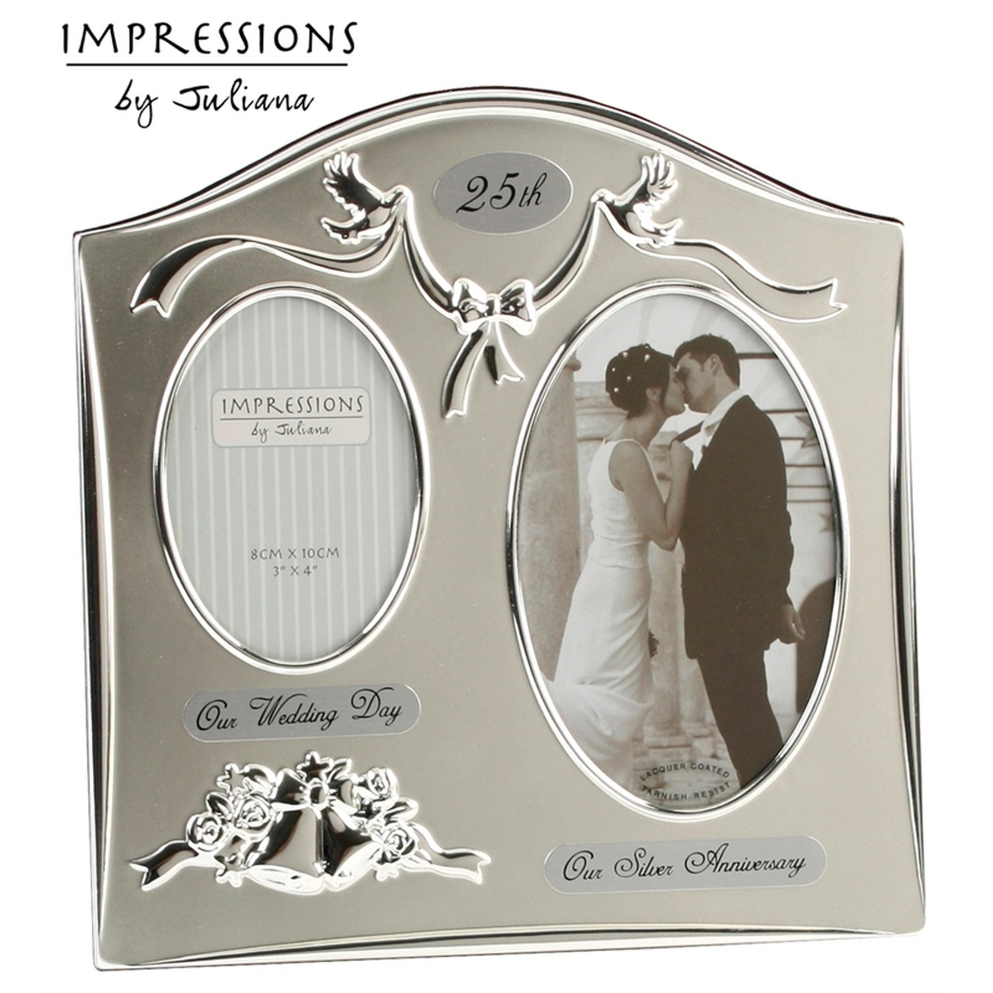 Image of Silver Plated Anniversary Photo Frame - Juliana