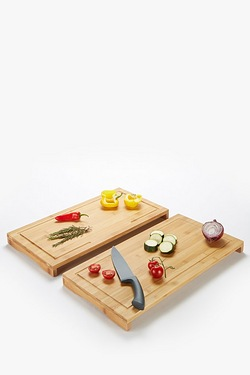 Set Of 2 Bamboo Worktop Savers/Cover Plates