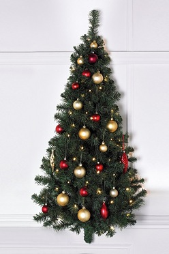 led pre lit wall hanging christmas tree