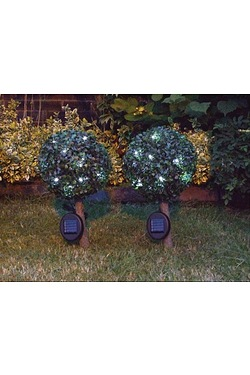 Pair Of 23cm Solar Bay Trees