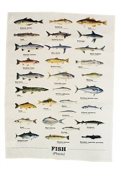 Fish Tea Towel