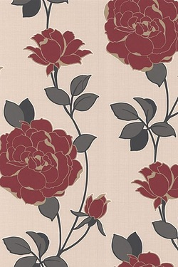 Superfresco Colour - Rosey Red Wallpaper