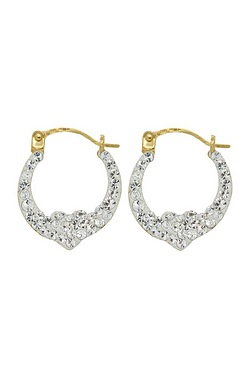 9ct Cristalique Creole Earrings