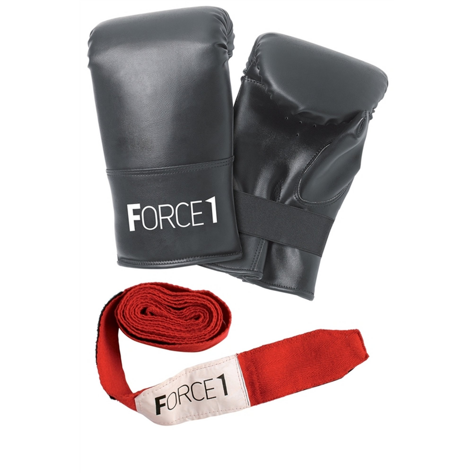 Image of Force 1 Boxing Mits and Wrist Straps