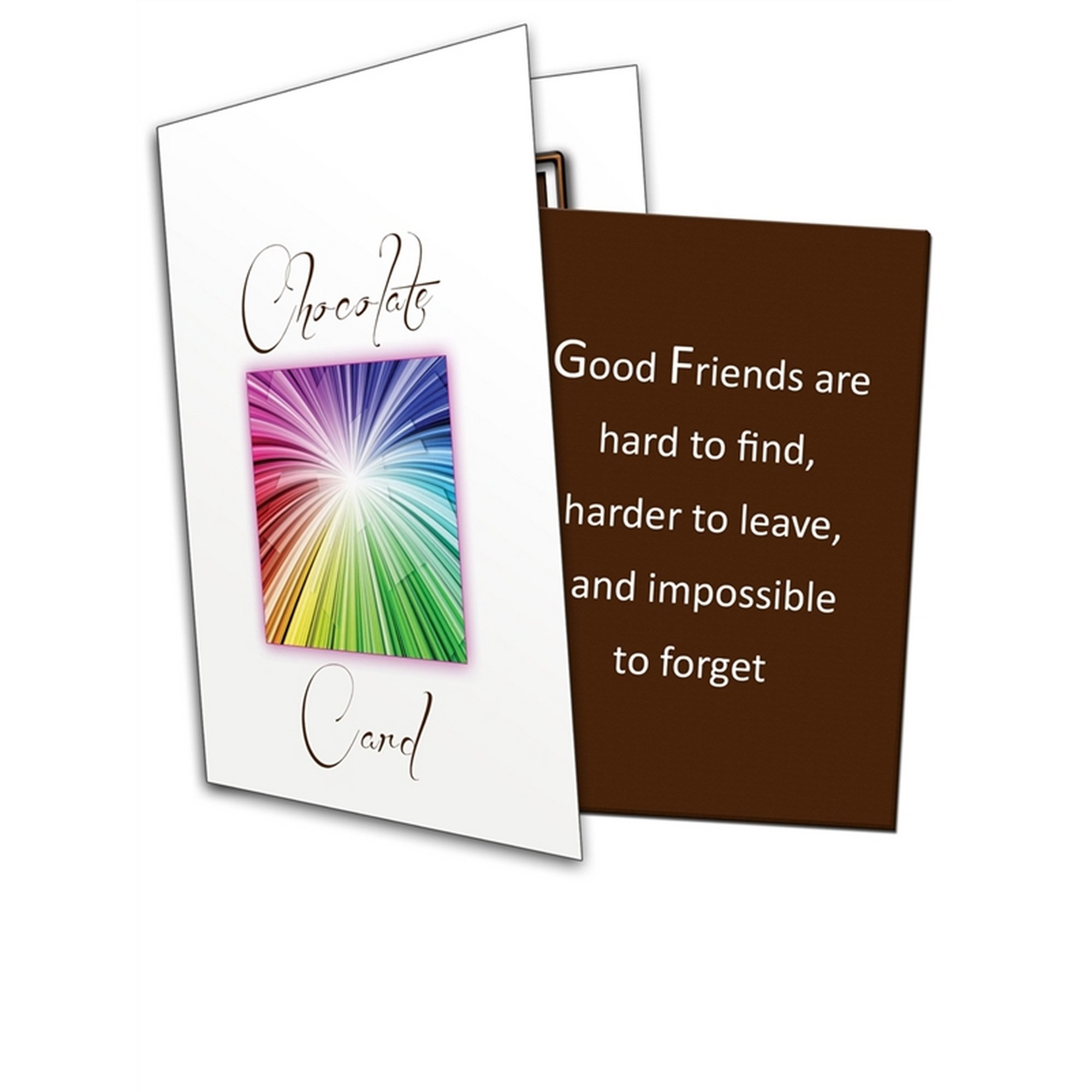 Image of Good Friends Are Hard To Find Chocolate Greetings Card