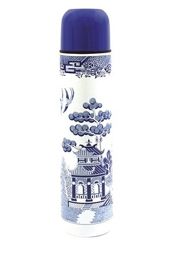 Blue Willow Thermos Flask
