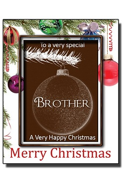 Personalised Christmas Chocolate Bauble with Name: Brother