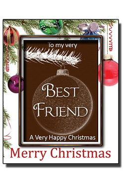 Personalised Christmas Chocolate Bauble with Name: Friend