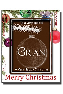 Personalised Christmas Chocolate Bauble with Name: Gran